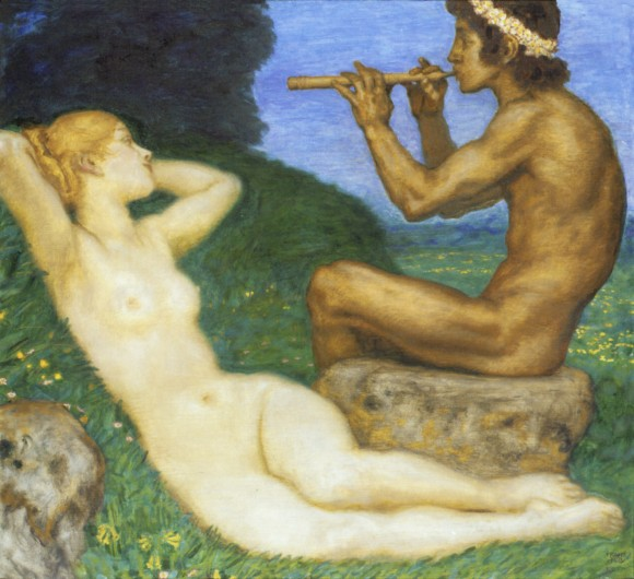 Franz von Stuck Liebesfruehling stuck 1917 580x530 Androgynie en femme fatale bij Franz von Stuck 